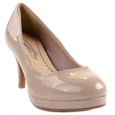 シティークラッシフィード レディース パンプス Cityclassified comfort Women's Black Pat Andi-H Mid-Heel Pump-shoes