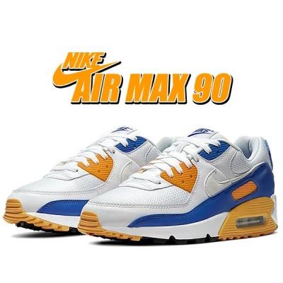 ナイキ エアマックス 90 NIKE AIR MAX 90 white/wht-varsity maize ct4352-101 スニーカー AM90 ホワイト ブルー イエロー