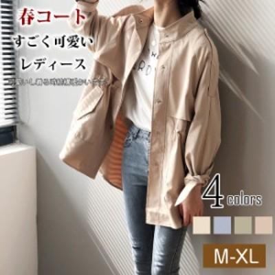 クーポン利用可 夏新作 トレンチコート レディース おしゃれ 長袖 大きいサイズ 薄手 軽い  スプリングコート アウター 春物 コート