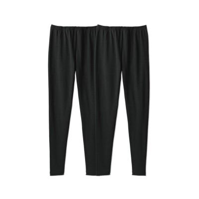 綿混裏起毛10分丈レギンス(選べる2レングス)2枚組(8L) (レギンス・スパッツ・オーバーパンツ)Leggings