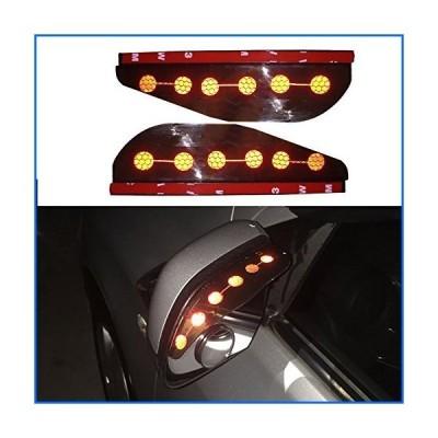 8X-SPEED for Toyota Corolla Camry RAV4 Car Rear View Mirror Rain Eyebrow Waterproof Reflective Protector Cover 2 Pcs (Red)[並行輸入品]