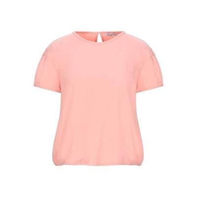 CAPPELLINI by PESERICO T シャツ サーモンピンク 42 コットン 90% / ポリウレタン 10% T シャツ