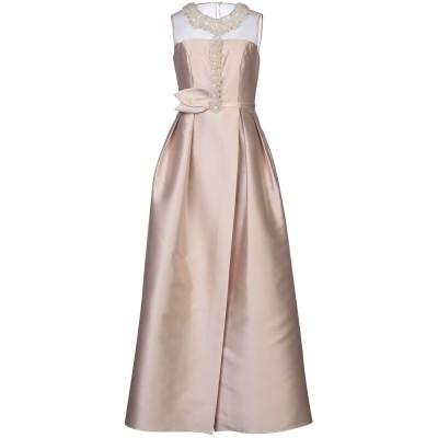 MARIA COCA ロングワンピース&ドレス ベージュ 36 ポリエステル 85% / シルク 15% ロングワンピース&ドレス