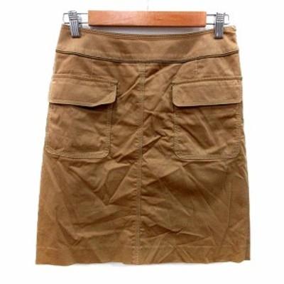 【中古】トゥモローランド TOMORROWLAND 台形スカート ミニ 36 ベージュ /MS レディース