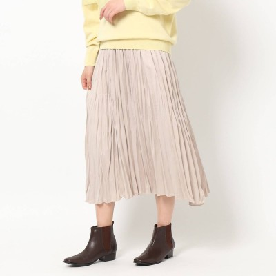 ザ ショップ ティーケー  ウィメンズ THE SHOP TK(Women) ビンテージプリーツスカート (ライトベージュ)