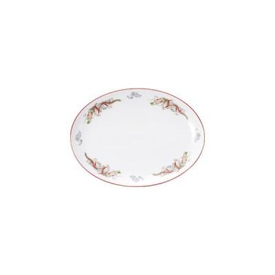 朱渕萬漢龍 12吋プラター プラター(L) 業務用 楕円皿 楕円皿 日本製 磁器 約31cm 中華皿 大皿 盛皿 バイキング