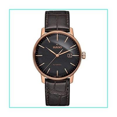 【新品】Rado Men's Coupole Classic 41mm Brown Leather Band Rose Gold Plated Case Automatic Analog Watch R22877165(並行輸入品)