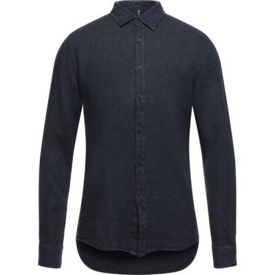 QB24 メンズ シャツ トップス linen shirt Dark blue