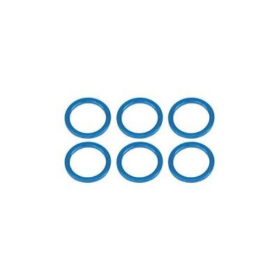 SGE-7510TB M5×6.4×1.0t アルミカラー6個入 ブルー スクエア/新品