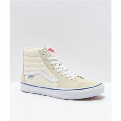 ヴァンズ VANS レディース スケートボード シューズ・靴 Vans Skate Sk8-Hi Off-White Skate Shoes Natural