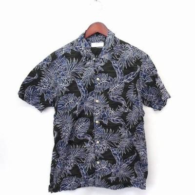 【中古】ユニクロ UNIQLO シャツ カジュアル ハワイアン 半袖 コットン 綿 M カーキ /FT18 メンズ 【ベクトル 古着】