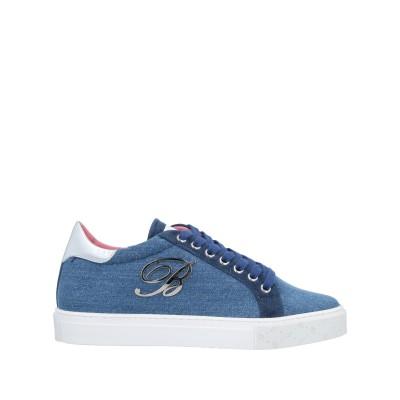 ブルマリン BLUMARINE スニーカー&テニスシューズ(ローカット) ブルー 36 紡績繊維 / 革 スニーカー&テニスシューズ(ローカット)