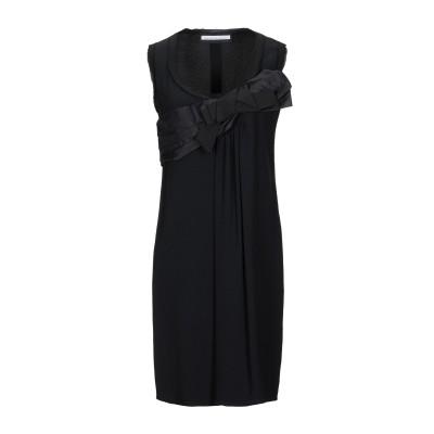 AQUILANO-RIMONDI ミニワンピース&ドレス ブラック 44 アセテート 57% / レーヨン 43% ミニワンピース&ドレス