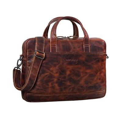 STILORD 'Claudius' Large Vintage Leather Bag Men Laptop Bag 15.6 inches College Bag Portfolio Shoulder Bag Satchel Business Bag Genuine Leather, Colou