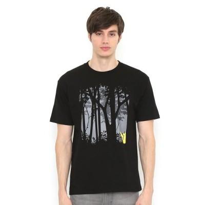 tシャツ Tシャツ Tシャツ/ピカチュウ森(ポケモン)(ブラック)