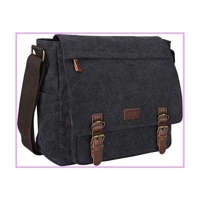 【送料無料】S-ZONE Vintage Canvas Messenger Bag School Shoulder Bag 14 Inch Laptop Briefcase【並行輸入品】