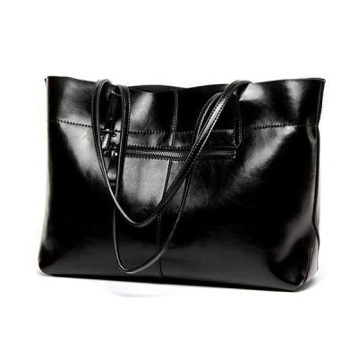 Covelin Women's Handbag Genuine Leather Tote Shoulder Bags Soft Hot Black【並行輸入品】
