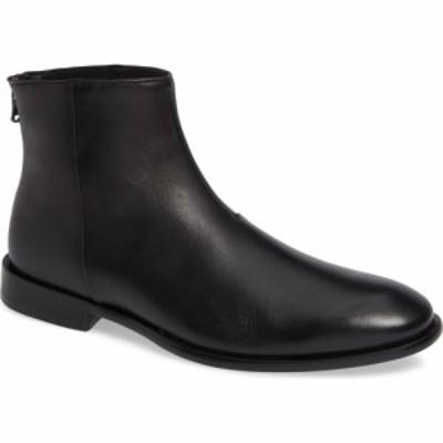 ジョン バルベイトス JOHN VARVATOS STAR USA メンズ ブーツ シューズ・靴 Nyc Back Zip Boot Black Leather