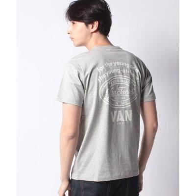 【ヴァン】 Tシャツ<VANロゴ> メンズ 杢 グレー LL VAN