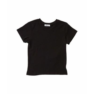 ラメイド シャツ トップス レディース Cropped Crew Tee in Tissue Jersey Black