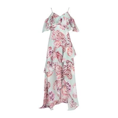 BY MALINA ロングワンピース&ドレス ライトグリーン XS シルク 100% ロングワンピース&ドレス