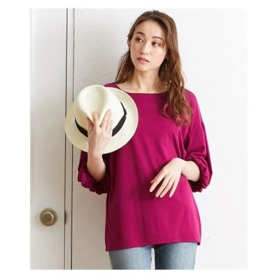 Tシャツ カットソー 大きいサイズ レディース バルーン 5分袖 プルオーバー LL/3L ニッセン