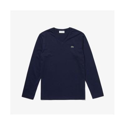 【ラコステ】 VネックロングTシャツ メンズ ネイビー 4(日本サイズL) LACOSTE