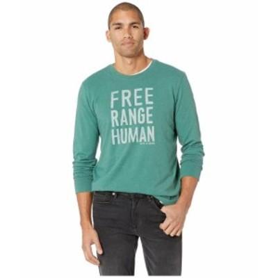 Life is Good ライフイズグッド 服 一般 Free Range Human Crusher Long Sleeve T-Shirt