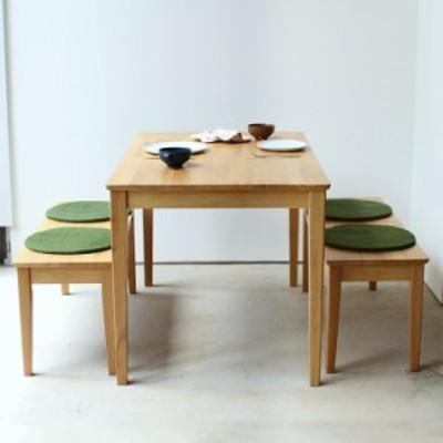 ダイニングテーブルセット 3点 4人 ラバーウッド テーブル W1200 ベンチ 2脚セット 【MTS-060、MTS-062】