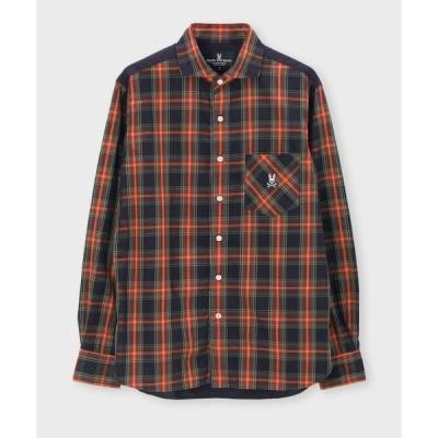 シャツ ブラウス コンビネーション チェックシャツ