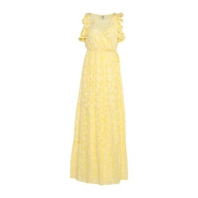 BAUM UND PFERDGARTEN ロングワンピース&ドレス イエロー 36 シルク 54% / レーヨン 46% ロングワンピース&ドレス