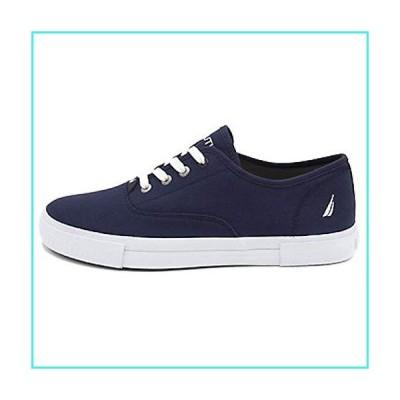 【新品】Nautica Mens Deckloom Fabric Low Top Lace Up Fashion Sneakers, J Navy, Size 8.5(並行輸入品)