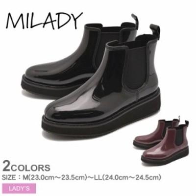 ミレディ レインブーツ レディース 厚底レインブーツ ブラック 黒 MILADY ML778 レインシューズ ブーツ シューズ 長靴 靴 雨 雨の日 モー