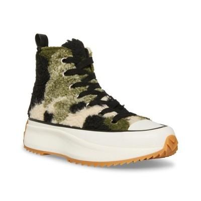 スティーブ マデン スニーカー シューズ レディース Women's Shaft Platform High-Top Sneakers Camoflage