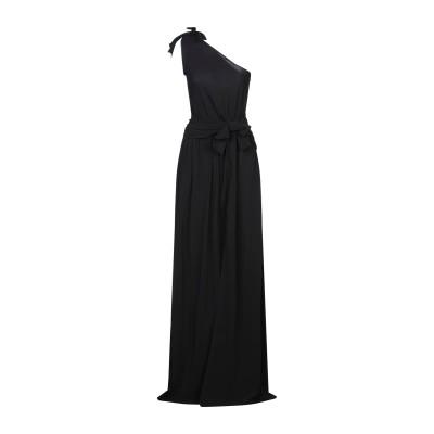 PINKO UNIQUENESS ロングワンピース&ドレス ブラック 42 レーヨン 95% / ポリウレタン 5% ロングワンピース&ドレス
