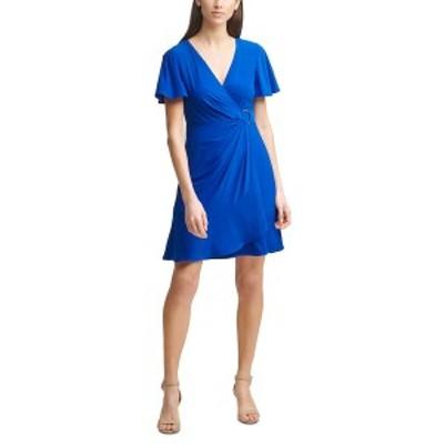 ジェシカハワード レディース ワンピース トップス Jersey Faux-Wrap Dress Royal