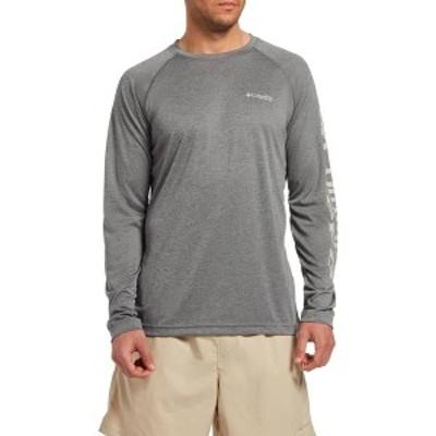 コロンビア メンズ シャツ トップス Columbia Men's PFG Terminal Tackle Heather Long Sleeve Shirt Charcoal Hthr Cool Grey