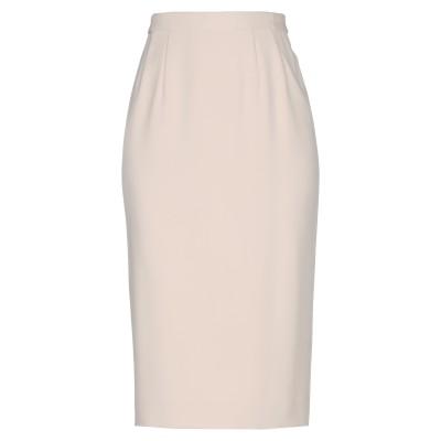 LUCA GIORDANI 7分丈スカート ベージュ 44 ポリエステル 100% 7分丈スカート
