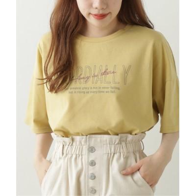 (framesRayCassin/フレームスレイカズン)バックレースアップTシャツ/レディース イエロー
