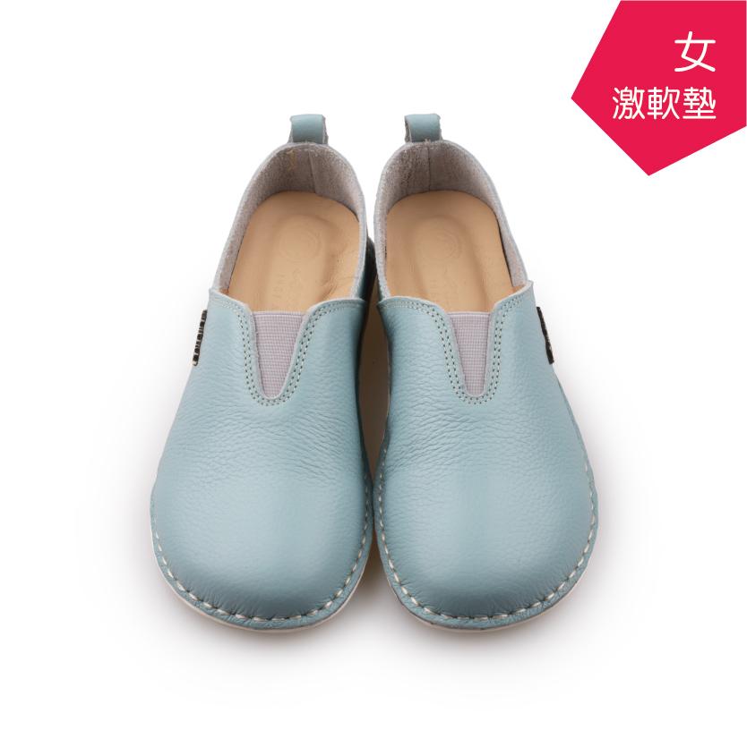 【A.MOUR 經典手工鞋】頂級牛革饅頭鞋 - 雪花藍(2506)