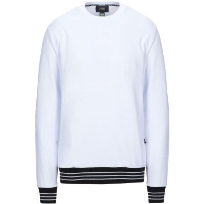 クラス ロベルト カヴァリ CAVALLI CLASS スウェットシャツ ホワイト S コットン 100% スウェットシャツ