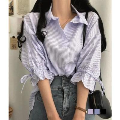 gifteabox レディース ブラウス Zanjul stripe Sean sleeve bow blouse