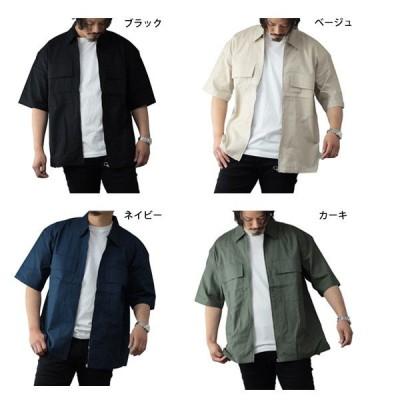綿麻フルZIPビッグシャツ