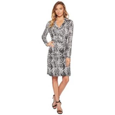 ロメオアンドジュリエットクチュール レディース ワンピース トップス Pattern Wrap Dress Black/White Combo
