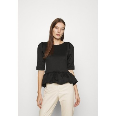 クローゼット Tシャツ レディース トップス CLOSET ROUND NECK PELUM  - Print T-shirt - black