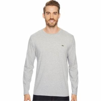 ラコステ Lacoste メンズ 長袖Tシャツ トップス Long Sleeve Pima Jersey Crew Neck T-Shirt Silver Chine