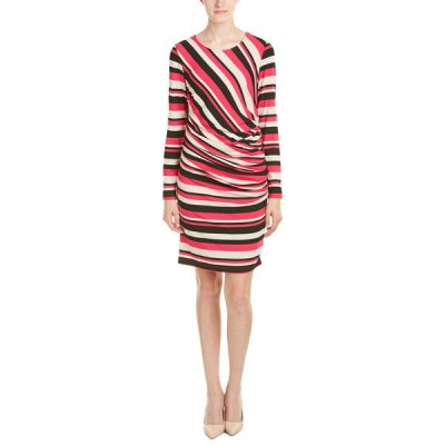 サラキャンベル ワンピース トップス レディース Sara Campbell Sheath Dress pink, oat, and black stripes
