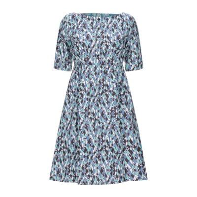 BINI Como ミニワンピース&ドレス ブルーグレー 40 コットン 100% ミニワンピース&ドレス
