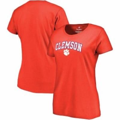 Fanatics Branded ファナティクス ブランド スポーツ用品  Clemson Tigers Womens Orange Campus T-Shirt