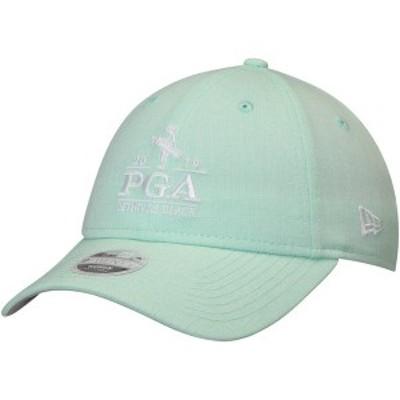 ニューエラ レディース 帽子 アクセサリー New Era Women's 2019 PGA Championship Lovely Linen 9TWENTY Adjustable Hat Mint Green